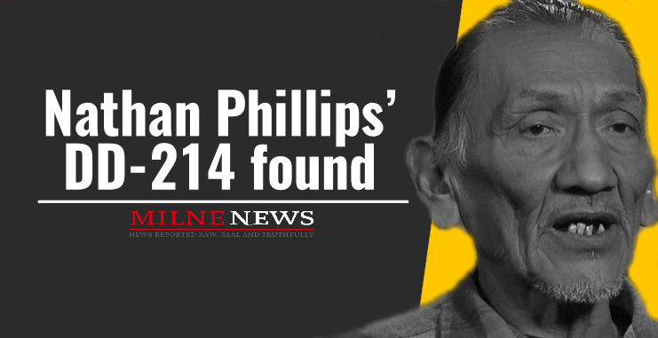 Nathan Phillips' DD-214 found