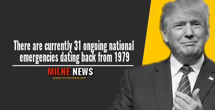 There are currently 31 ongoing national emergencies dating back from 1979