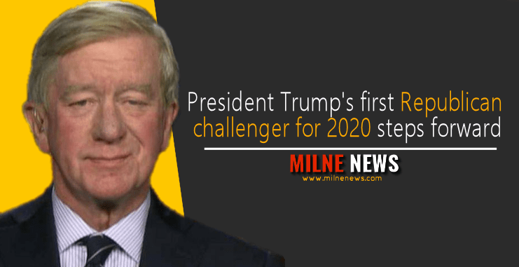 President Trump's first Republican challenger for 2020 steps forward