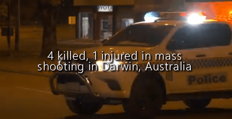 4 killed, 1 injured in mass shooting in Darwin, Australia