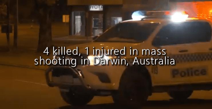 4 killed, 1 injured in mass shooting in Darwin, Australia