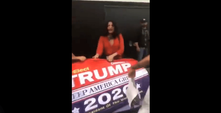 Indiya from TV show 'POSE' starts altercation after trying to steal Trump 2020 sign