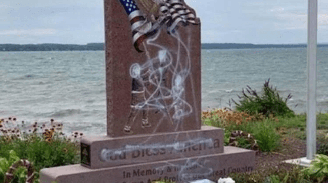 Memorial for 9/11 first responders was vandalized in New York