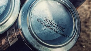 """Clovis brewery prints limited edition """"Epstein didn't kill himself"""" on the bottom of cans"""