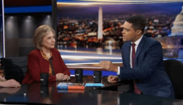 "Trevor Noah jokingly asks Hillary Clinton: ""How did you kill Jeffrey Epstein?"""