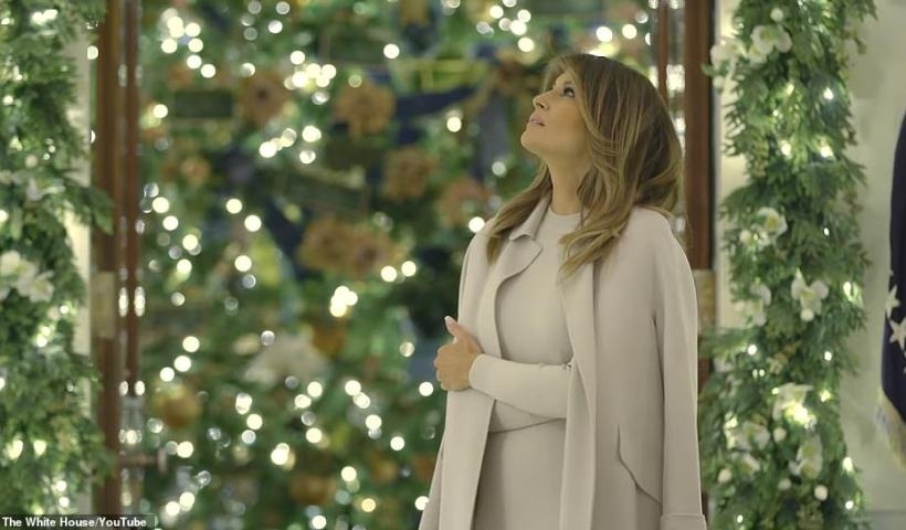 Melania Trump unveils patriotic 'Spirit of America-themed' White House Christmas decorations