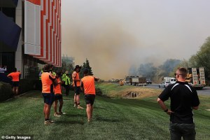 Three hero U.S. firefighters dead after waterbomber crashed while helping battle Australia's bushfires