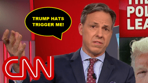"""CNN's Jake Tapper Triggered By President Trump Wearing """"KAG"""" Hat, Cuts Away"""