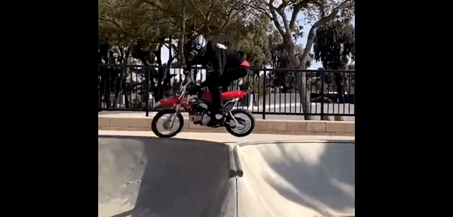 VIDEO: Kids Turn Skate Park Covered in Sand By Government Into Dirt Bike Track