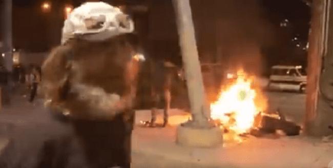 VIDEO: Antifa Burns Homeless Man's Only Possessions