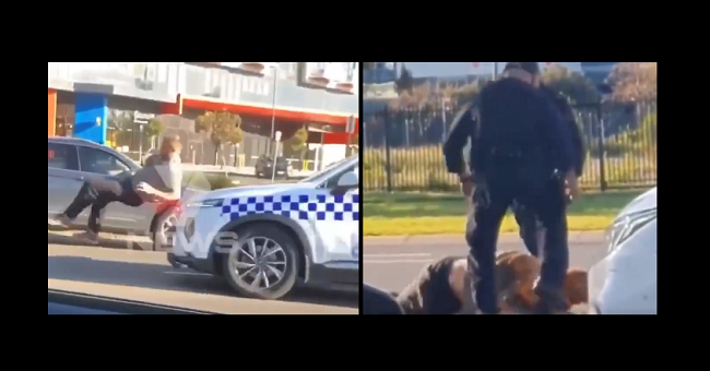 Man Rammed And Brutally Stomped In Head By Police In Melbourne, Australia
