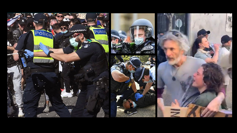 Melbourne Police Use Rubber Bullets & Tear Gas On Protesters At Freedom Rally