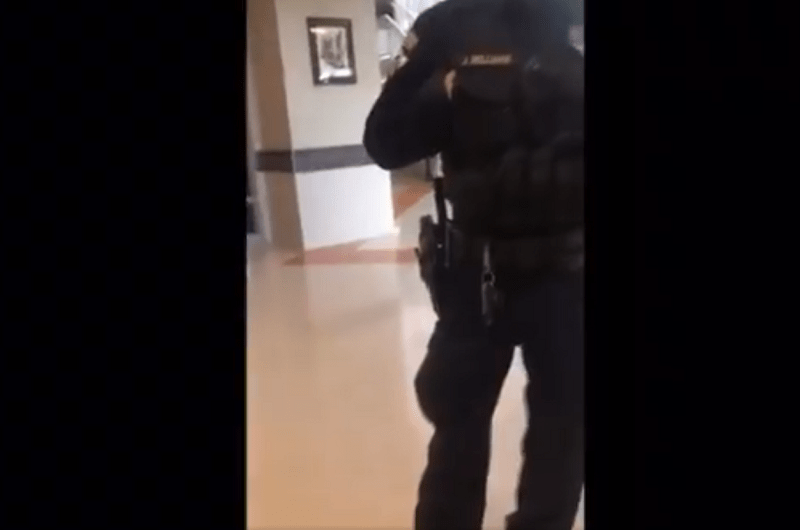 Police Lockdown Entire School Because Girl Refused To Wear a Mask