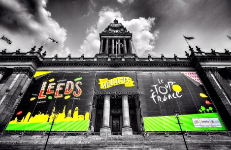 Town Hall Leeds ready for the Tour de France