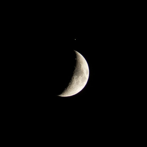 Moon & Saturn Conjunction over Spain