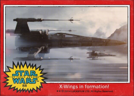 X-Wings in Formation Star Wars The Force Awakens Digital Trading Card No 88