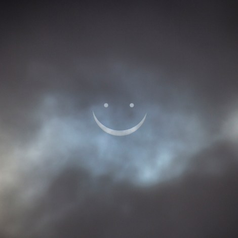 The Smiley Solar Eclipse over the Leeds by © Carl Milner 2015