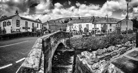 Kettlewell Village Bridge looking towards the Blue Bell Inn © Carl Milner 2015
