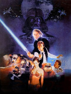Classic Star Wars - Episode VI Return of the Jedi Film Poster Without Word all Text Removed
