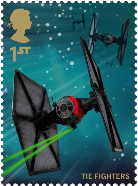 Royal Mail's Star Wars The Force Awakens Stamp Collection - First Order Tie Fighter