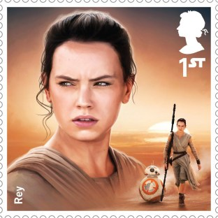 Royal Mail's Star Wars The Force Awakens Stamp Collection - Rey
