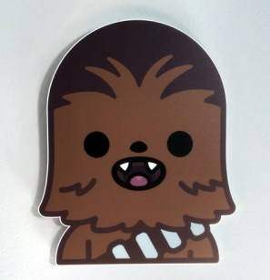 100% Soft Chewbacca Star Wars Art Awakens by Truck Torrence