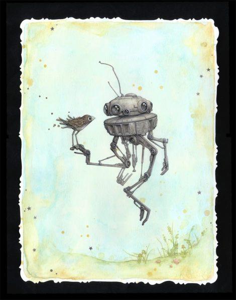 Droid in Spring - Star Wars - Art Awakens - Leontine Greenberg