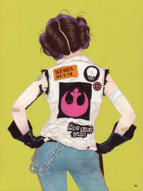 Rebel Star Wars Art Awakens Artwork by Julian Callos