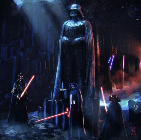 Star Wars Art Awakens Exhibition Knights of Ren… Darth Vader fans