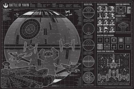 The Battle of Yavin - Star Wars - Art Awakens by Anthony Petrie