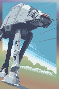 AT-AT Walker All Terrain Amoured Transport Star Wars Empire Strikes Back Hero Complex Foil Variant by Craig Drake