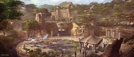 Disneyland 60 Star Wars Land New Concept Art Hi Res MilnersBlog - X-Wing Themed Area