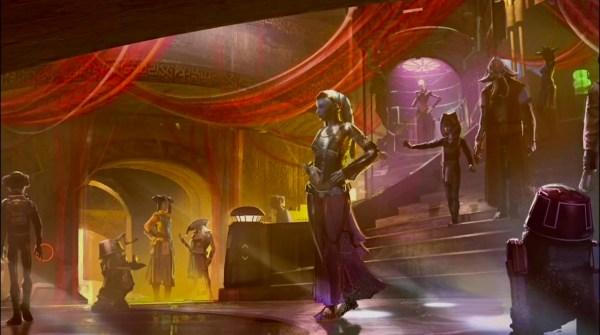 Disney Land Star Wars Concept Art