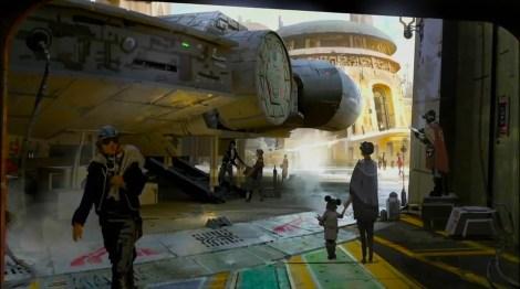 Disneyland 60 Star Wars Land New Concept Art Hi Res MilnersBlog - Millennium Falcon Land