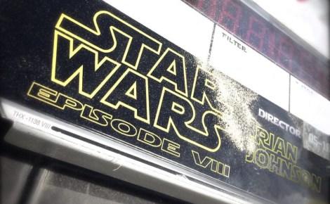 Star Wars VIII Episode 8 Rian Johnson Clapper Board Day 1