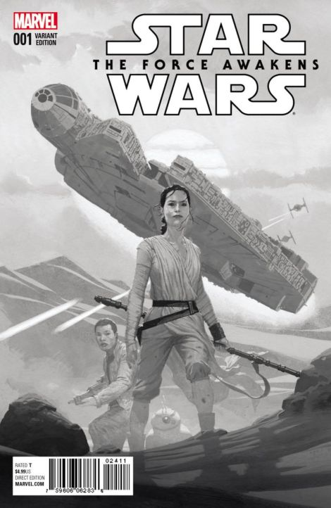 Marvel Force Awakens Comic Sketch variant cover by Ribic