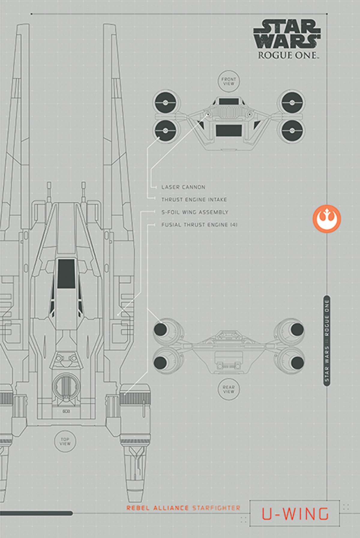 New Rogue One Official Posters Pyramid Int Hd A Star Wars Story U Wing Schematic