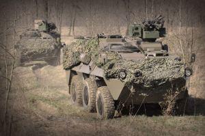 """Abb. : """"Pandur"""" A2 im Einsatz beim Jägerbataillon 17 (Foto: Bundesheer/Robert Gießauf)"""