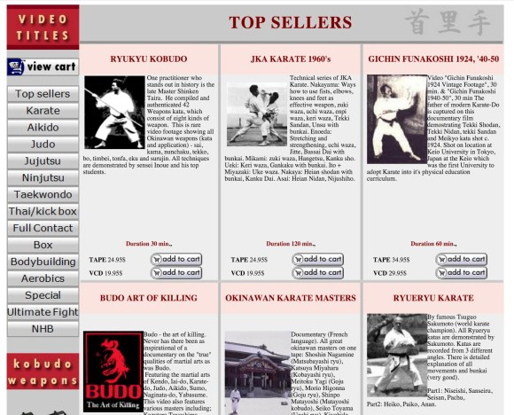 Karate web shop