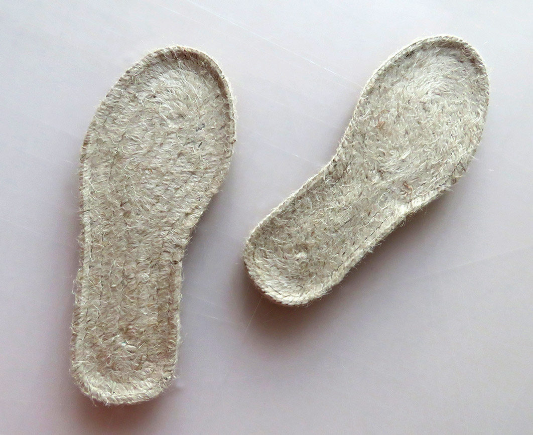 Starting with your espadrille soles