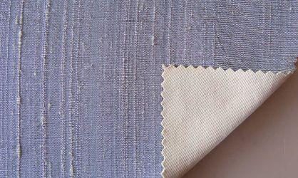 Dupioni silk silver-grey