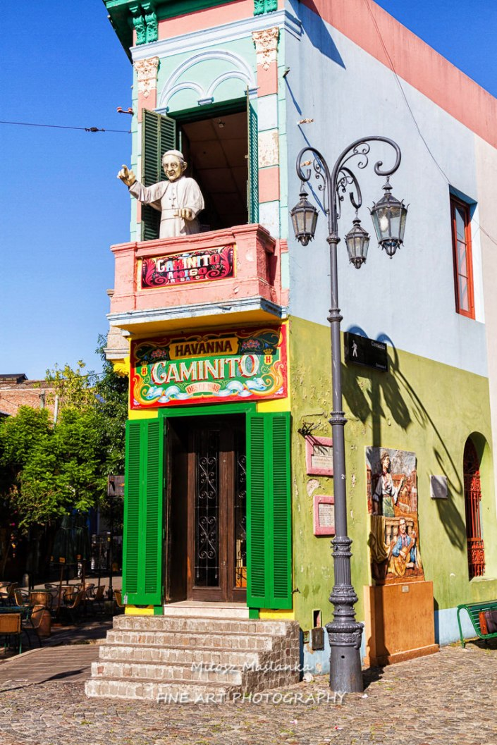 La Boca is a popular destination for tourists visiting Argentina, with its colourful houses and pedestrian street.