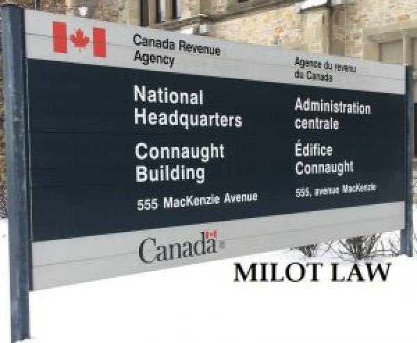 Tax Lawyer Milot Law CRA UBC Litigation