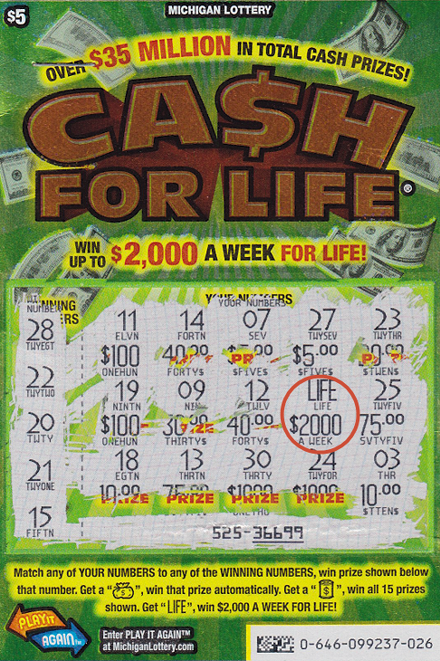 20-Year-Old Michigan Lottery Player Wins $2,000 a week with Cash For