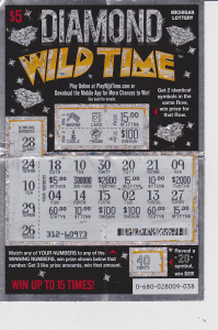 Actual winning ticket (Photo: Courtesy of the Michigan Lottery)