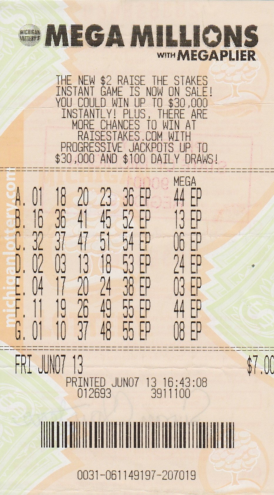 Michigan Mega Millions Winning Numbers