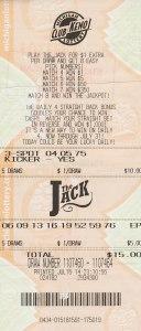 Winning Club Keno The Jack Ticket