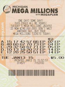 $1 Million Winning Mega Millions Ticket