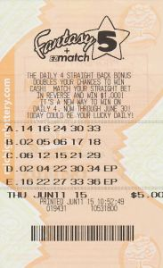 06.15.15 Fantasy 5 06.11.15 Draw $154,773 Saginaw County