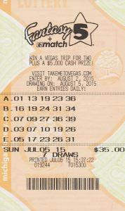 07.14.15 Fantasy 5 07.05.15 Draw $285,973 Anonymous Wayne County